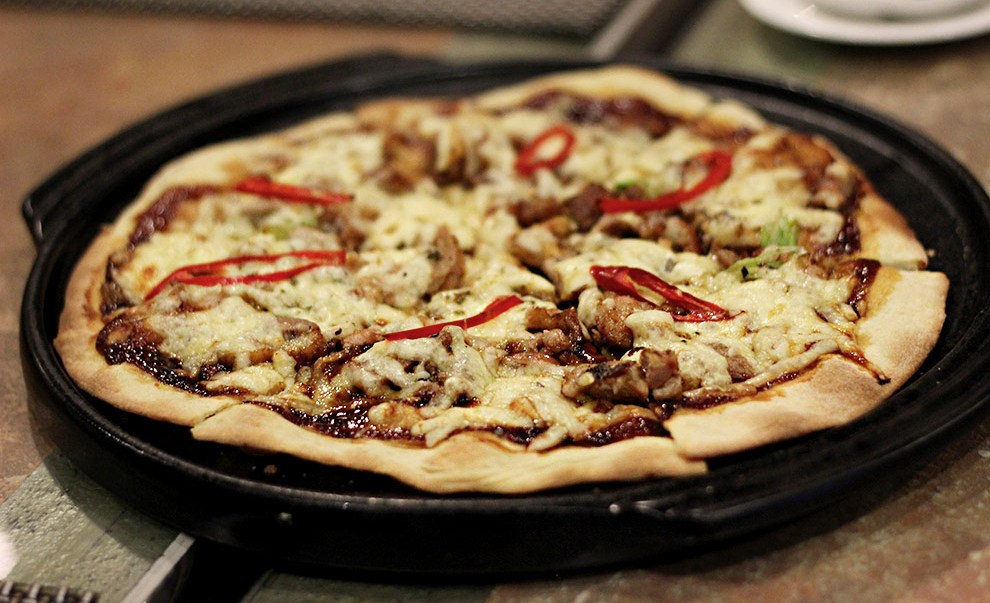 Delicious pizzas available at Riva