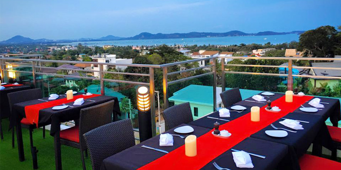 Rooftop Dining with Ocean View of Lucky 13 Bar & Grill in Rawai, Phuket, Thailand