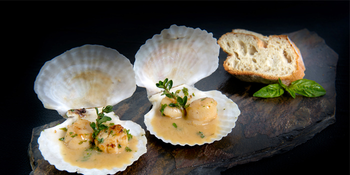 Scallops in Sauce Nage from Lucky 13 Bar & Grill in Rawai, Phuket, Thailand