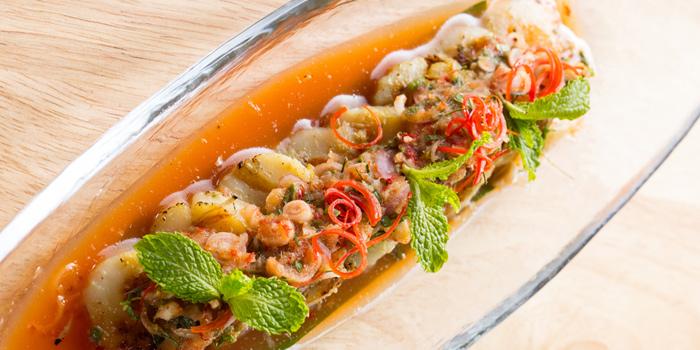 Sea Scallop Herbs Salad from Osha Cafe at Asiatique the Riverfront, Bangkok