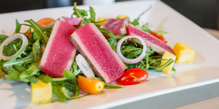Seared Tuna & Rocket Salad from Phuket Marriott Resort and Spa, Nai Yang Beach, Phuket, Thailand.