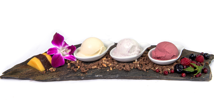 Selection of Ice Cream from Lucky 13 Bar & Grill in Rawai, Phuket, Thailand