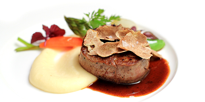 Beef Tenderloin with White Truffle from Senso Ristorante & Bar on Club Street in Tanjong Pagar, Singapore