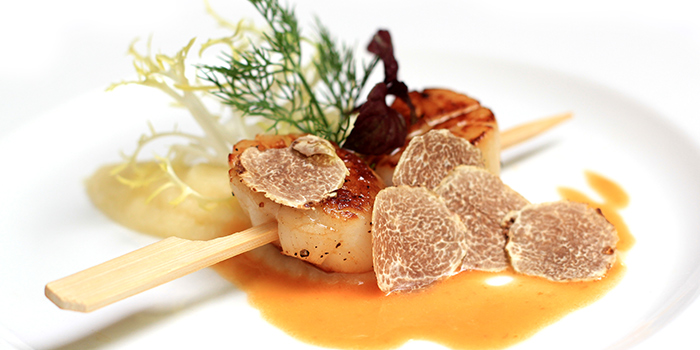 Scallops Skewer with White Truffle from Senso Ristorante & Bar on Club Street in Tanjong Pagar, Singapore