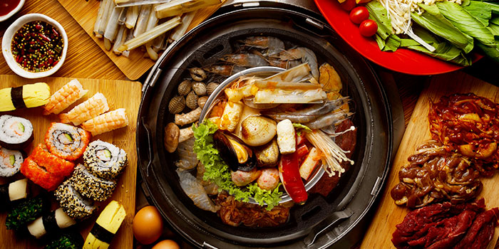 Food Spread from Seoul Garden (Marina Square) in City Hall, Singapore