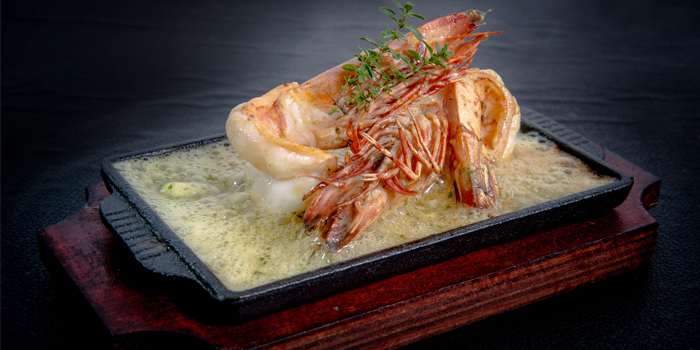 Sizzling Gambas from Lucky 13 Bar & Grill in Rawai, Phuket, Thailand