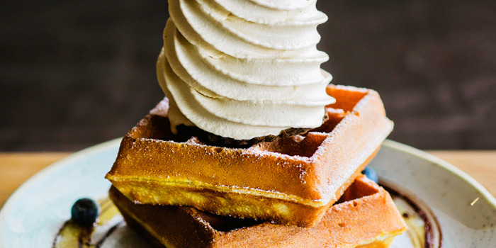 Double Waffle & Earl Grey Ice Cream from Sunday Folks in Holland Village, Singapore