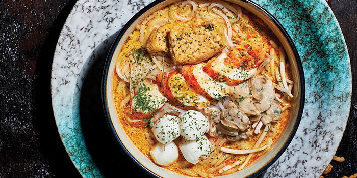 Lobster Laksa from TungLok Heen at Hotel Michael in Sentosa, Singapore