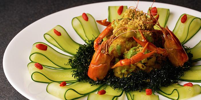 Wasabi Mayo Prawn from TungLok Heen at Hotel Michael in Sentosa, Singapore