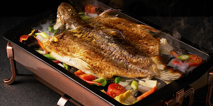 White Sultan Grilled Fish from TungLok Heen at Hotel Michael in Sentosa, Singapore