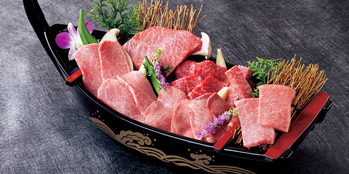 Wagyu Platter from Yakiniku Heijoen in Wisma Atria Shopping Centre in Orchard Road, Singapore