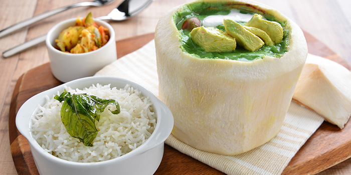 Green Curry with Rice from Apolo Bistro in Little India, Singapore