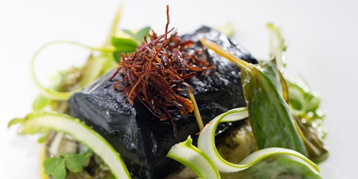 Baked cod with ash, beef brisket, asparagus salad, The Pawn, Wan Chai, Hong Kong