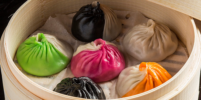 Bi-coloured Xiao Long Bao Dumplings, The Drunken Pot, Causeway Bay, Hong Kong