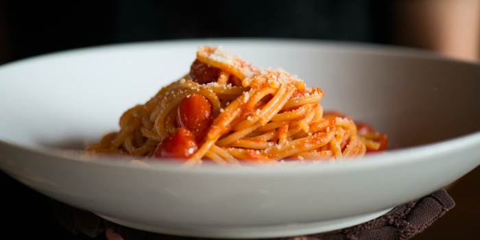 Bucatini Amatriciana from Appia in Sukhumvit Soi 31, Bangkok