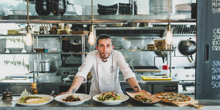 Chef Nik with his Creations of Rustic-Eatery & Bar in Patong, Kathu, Phuket, Thailand