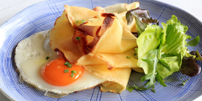 Crepes Ham Emmental and an Egg from Firefly in Cherngtalay, Thalang, Phuket, Thailand