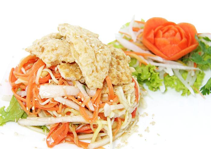 Crispy Fish Salad at Coca Suki, Jakarta