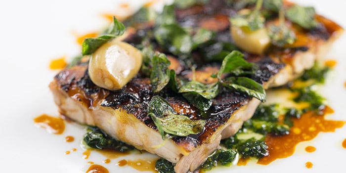Flat iron chicken, tarragon & parsley gremolata