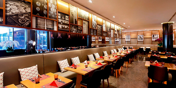 Interior of Flavours at Zhongshan Park in Balestier, Singapore