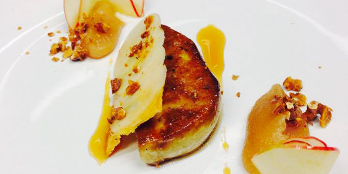 Foie Gras with Apple and Caramelized Nut from Breeze at Cape Yamu in Paklok, Thalang, Phuket, Thailand