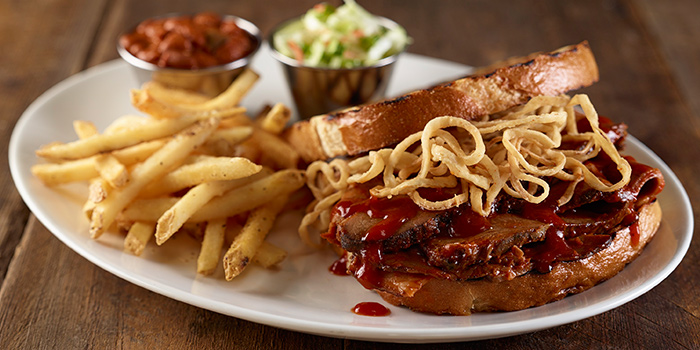 Smoked Beef Brisket Sandwich from Hard Rock Cafe (Cuscaden) at HPL House in Tanglin, Singapore