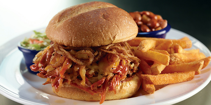 Texas BBQ Burger from Hard Rock Cafe (Cuscaden) at HPL House in Tanglin, Singapore