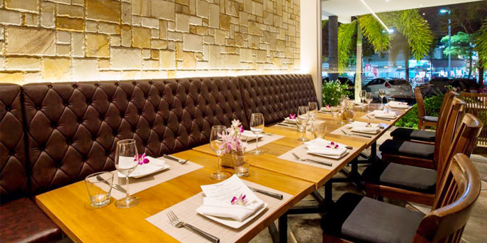Indoor Dining Area of Taste Bar & Grill in Cherngtalay, Thalang, Phuket, Thailand