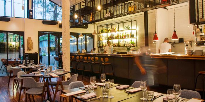 Indoor and Bar of Bampot Kitchen & Bar in Cherngtalay, Phuket, Thailand