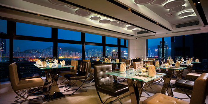 Interior of Uptop Bistro & Bar, Tsim Sha Tsui, Hong Kong