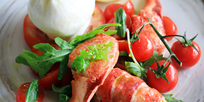 Lobster Caprese Tomato Mozzarella Salad from Firefly in Cherngtalay, Thalang, Phuket, Thailand