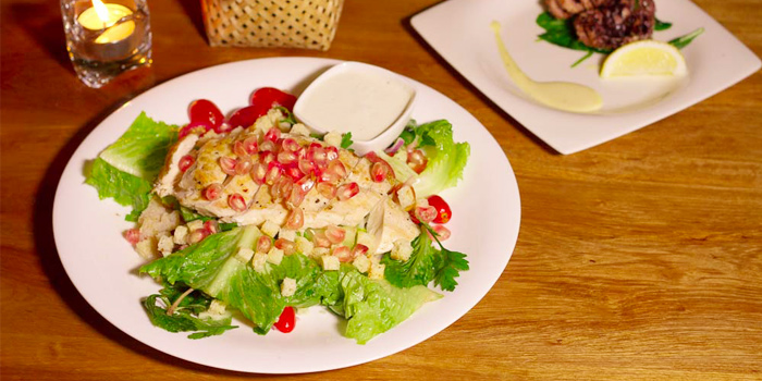 Mediterranean Chicken Salad with Pomegranate from Taste Bar & Grill in Cherngtalay, Thalang, Phuket, Thailand