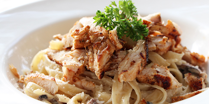 Chicken Alfredo from Miska Cafe (Sentosa) in Sentosa, Singapore