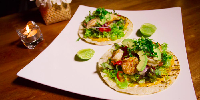 Mixed Tacos Fish & Shrimp from Taste Bar & Grill in Cherngtalay, Thalang, Phuket, Thailand