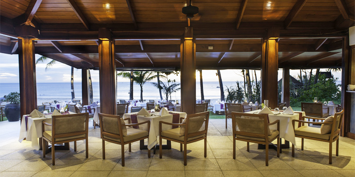 Open Air Dining Area of Beach Restaurant in Cherngtalay, Thalang, Phuket, Thailand