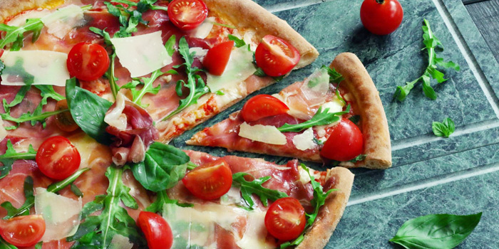 Parma Ham Pizza from Cut Grill & Lounge in Lagoon Road, Boat Avenue, Cherngtalay, Talang, Phuket, Thailand