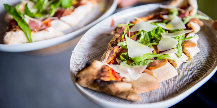 Parma Ham, Rocket, Garlic Pizza from Firefly in Cherngtalay, Thalang, Phuket, Thailand