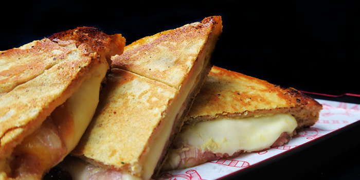Grilled Ham and Cheese Sanga from Red Tail Bar in Clarke Quay, Singapore