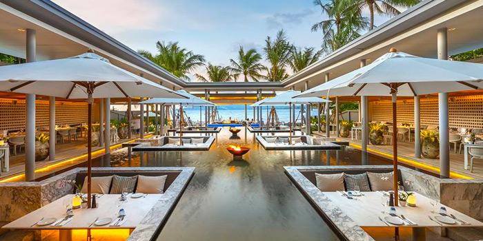 Restaurant Atmosphere of Palm Seaside on Bangtao Beach, Phuket, Thailand