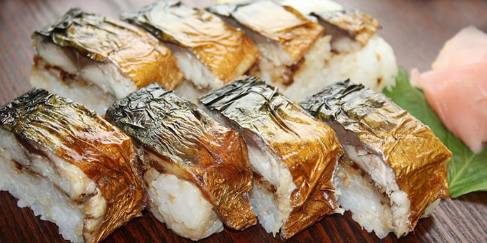 Grilled Mackerel Sushi from Sabar Singapore in Wisma Atria Shopping Centre in Orchard Road, Singapore