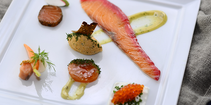 Salmon in Six Ways, FINDS, Tsim Sha Tsui, Hong Kong