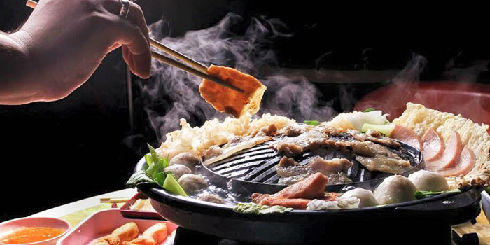 Sizzling Plate from Siam Square Mookata (Boon Lay) at Boon Lay Shopping Centre in Jurong, Singapore