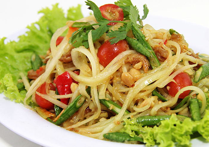Spicy Papaya Salad at Coca Suki, Jakarta