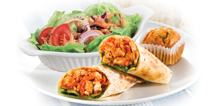 Texas Tortilla Wrap Meal from Kenny Rogers Roasters in Cherngtalay, Thalang, Phuket, Thailand