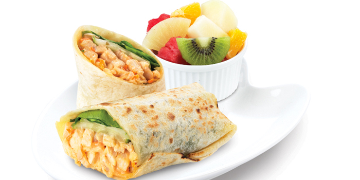 Tortilla Wrap from Kenny Rogers Roasters in Cherngtalay, Thalang, Phuket, Thailand