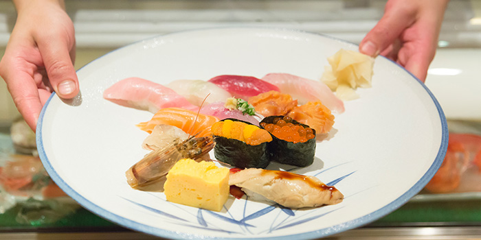 Sushi Platter from Tsukiji Sushi Takewaka in Wisma Atria Shopping Centre in Orchard Road, Singapore