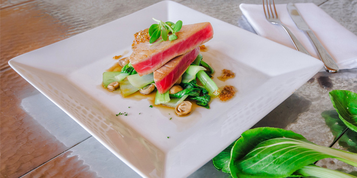 Tuna Steak from Palm Seaside on Bangtao Beach, Phuket, Thailand