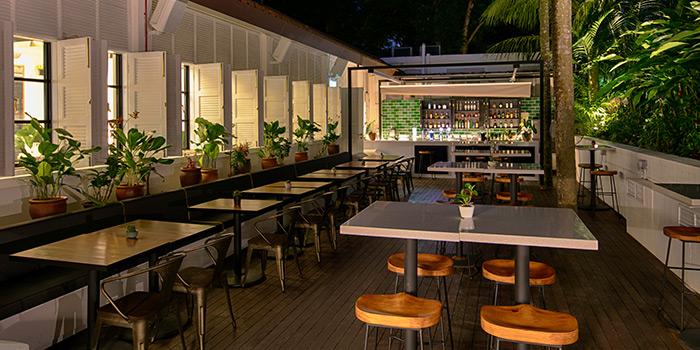 Garden Bar of Botanico at The Garage in Singapore Botanic Gardens in Bukit Timah, Singapore