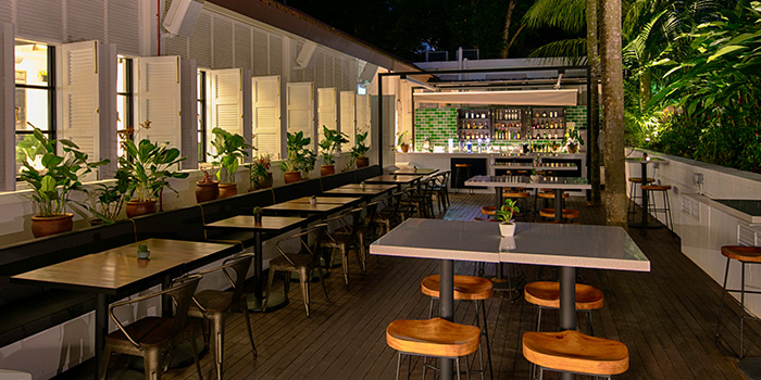 Garden Bar of Botanico at The Garage in Singapore Botanic Gardens in Bukit Timah, Singapore