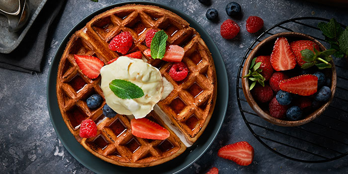 Buttermilk Waffles Ice Cream from Brio at Jurong Point Shopping Centre in Jurong, Singapore